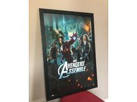 Large Avengers assemble Framed poster