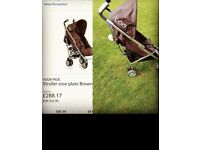 icoo pluto chocolate stroller excellent condition!
