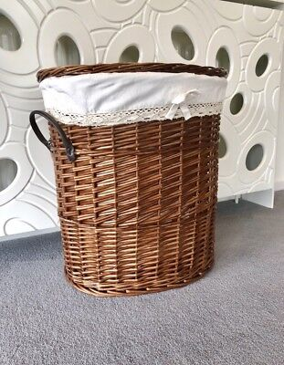 - Large Family Size Round Wicker Strong Laundry Basket Washing Clothes