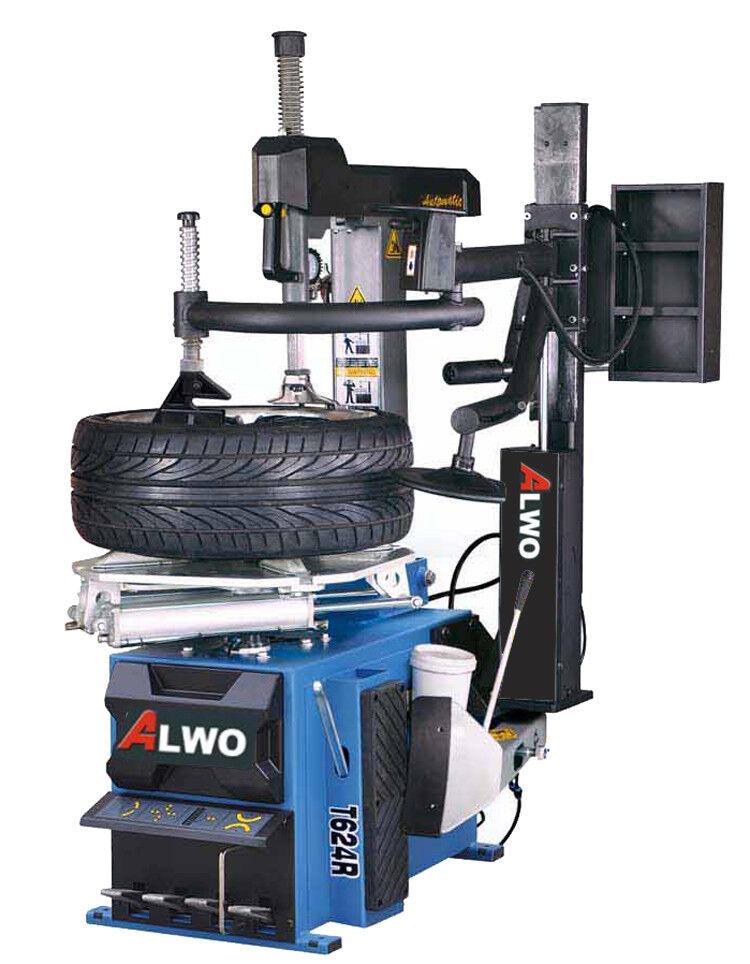 Alwo T624R PKW Reifenmontiermaschine Montagemaschine Montiergerät Zusatzarm
