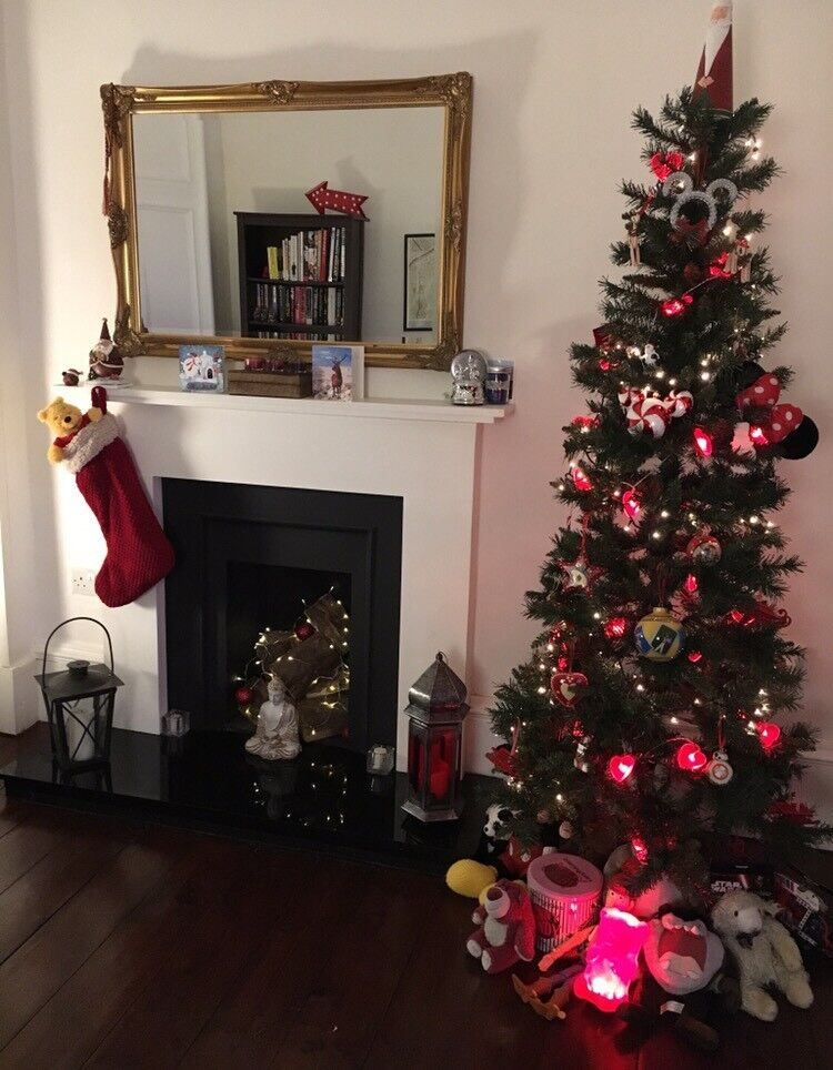 Christmas Tree 6ft 6inch Vancouver Slim B&Q Artificial Tree   in ...