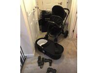 iCandy Peach Black Pushchair & Carrycot Bundle STILL IN 3 YEAR WARRANTY