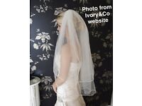 Ivory&Co Ivory Wedding Veil Brand New
