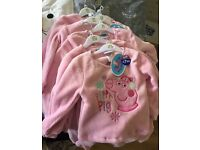 Brand New With Tags R.R.P £7.99 Pepper Pig Fleecy Christmas Pyjamas Age 12-18 Months