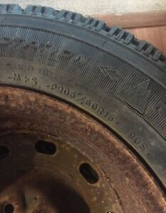 205 60 r15 studded winter tires on rims