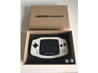 Nintendo Game boy advance backlite glass screen custom paint GBA