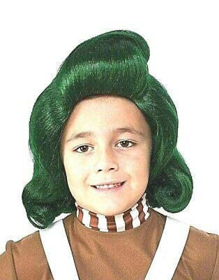 Oompa Loompa Grün Perücke Willy Wonka TV Film Charakter Kinder Kostüm Party - Oompa Loompa Kostüm Kinder