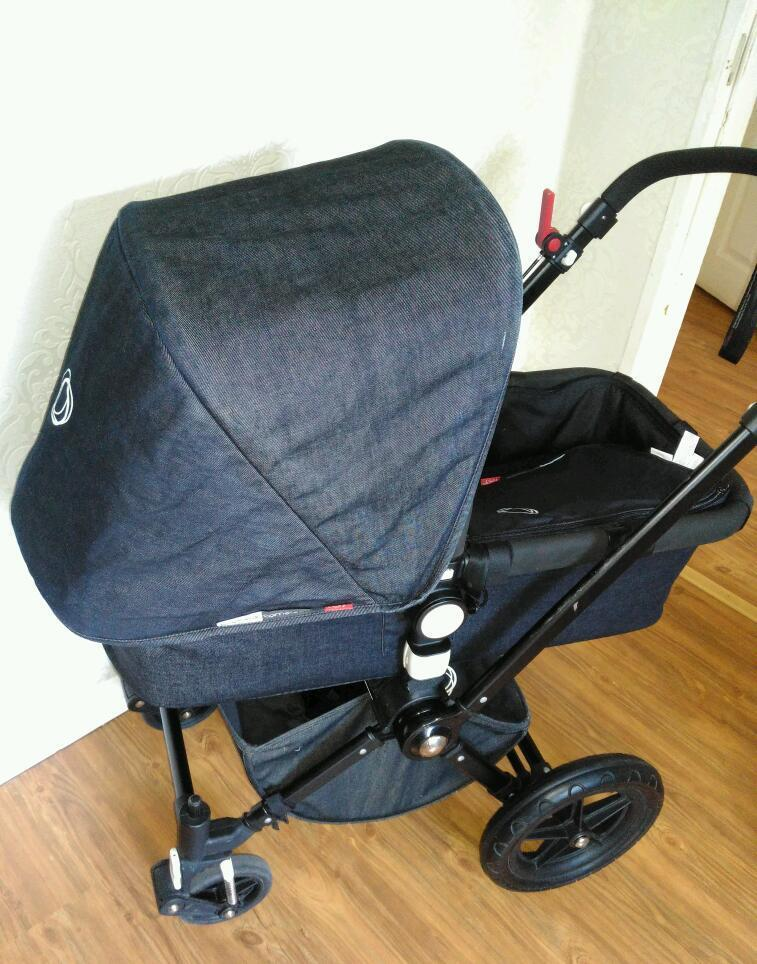 Bugaboo Cameleon Limited Edition Black Chassis With Denim