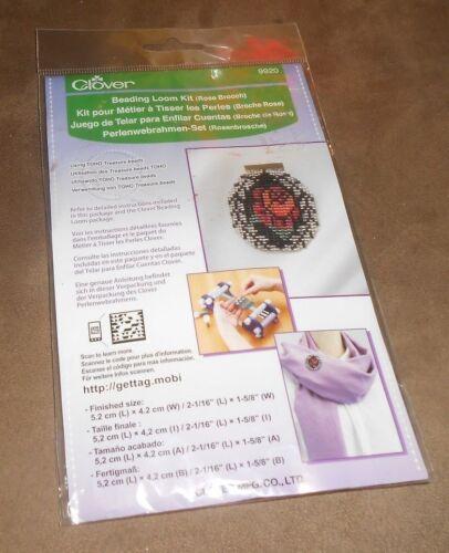 Clover Beading Loom Kit #9920  Rose Brooch   Brand New in Package