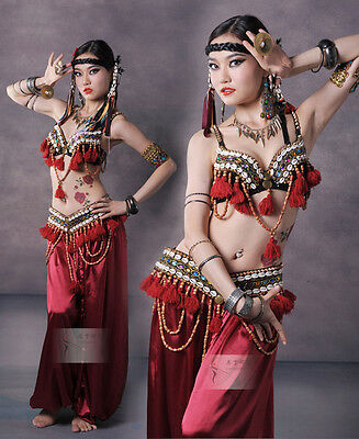 Neu! D606 Tribal Vintage Bauchtanz Kostüm Fasching Karneval Belly Dance Costume