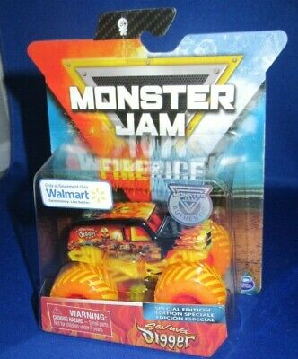 Walmart Boy Toys (MONSTER JAM SPECIAL EDITION FIRE & ICE SON-UVA DIGGER WALMART EXCLUSIVE NEW)