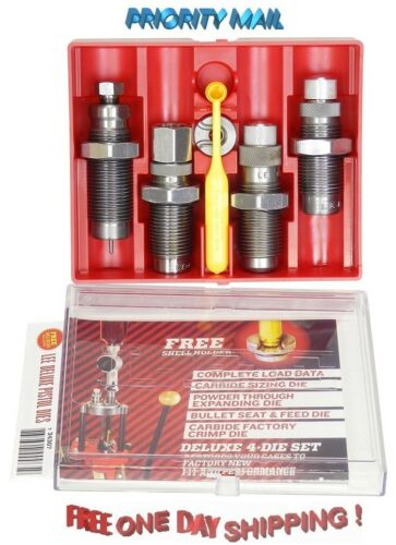 90963 Lee Precision Deluxe Carbide 4 Die Set for 9mm Luger # 90963 New!