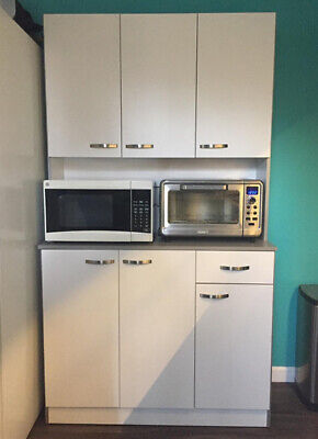 Tall Kitchen Storage Cupboard Cabinet Pantry Freestanding Unit Furniture Modern