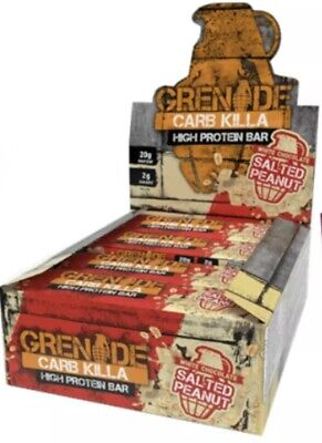 Grenade Carb Killa Box Of 12 White Choc Peanut NEW FLAVOUR!!