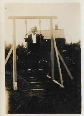 1920s Bow Ties   Gatsby Tie,  Art Deco Tie Vintage Old Photograph Man Jacket Bow Tie Stood On Swing In Garden 1920's $4.10 AT vintagedancer.com