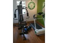 BARGAIN COMBO! Maximuscle 120kg Multigym AND Reebok irun treadmill