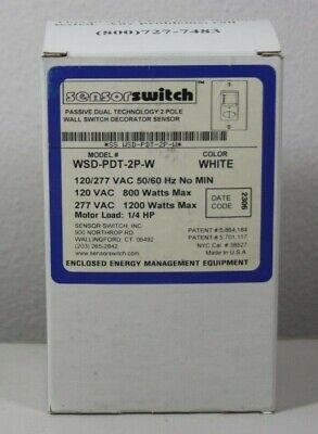 Sensor Switch Wsd Pdt 2p W Control Wall Switch Sensor White Motion Detector