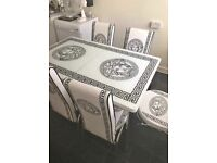 🌟 BRAND NEW MODERN EXTENDABLE TURKISH DINING TABLE WITH CHAIRS KITCHEN HOME GARDEN🌟