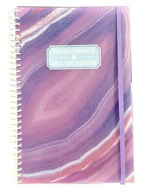 Home Finance Bill Organizer With Pockets Purple Geode