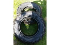 Almost New pair of tyres 16 inch Offroad and Onroad Jungle Tyres