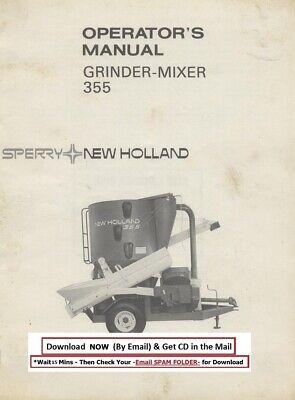 New Holland Grinder Mixer Model 355 Operator Instruction Manual
