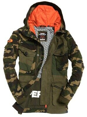 Superdry Men's Rookie Camo Mix Parka Jacket