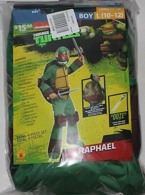 TMNT Teenage Mutant Ninja Turtles Deluxe Raphael costumes Boys Large - Turtles Costumes