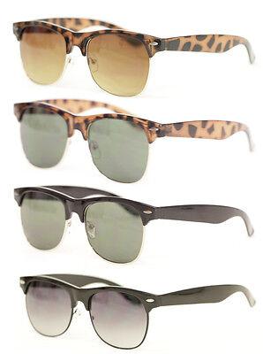 Sonnenbrille 50er 60er Jahre schwarz braun Halbschale Retro Herren o. Damen 425A