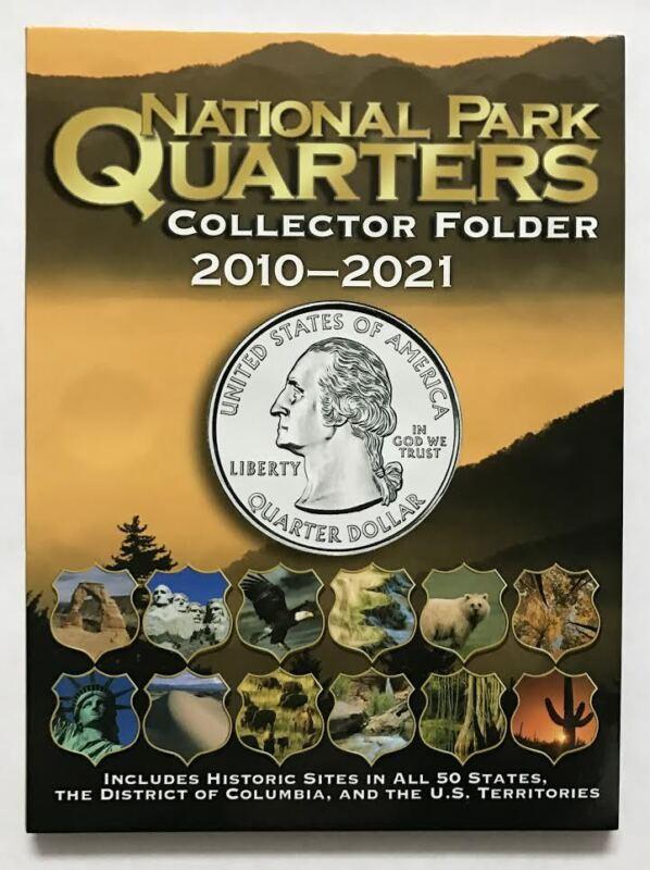 2010 - 2021 - NATIONAL PARK QUARTER FOLDER  H. E. HARRIS / WHITMAN  (BRAND NEW)