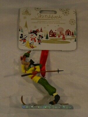 "Disney Store 2019 ""Goofy The Art Of Skiing"" Sketchbook Christmas Ornament - NWT!"