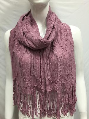KNITTED  WINTER SCARF THICK BULKY COLD SEASON COLOR PLUM