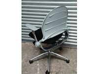 35 - BUM & FRANCH - HI QUALITY ITALIAN TASK CHAIRS IN BLACK - GOOD QALITY