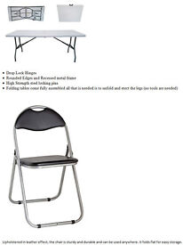 6 foldable chairs and table , quick sale, moving house, all for bargain £70
