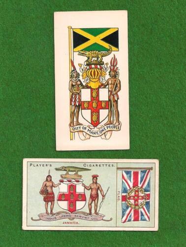 JAMAICA  National Flag  1905 & 1938 original cards  The Black Green & Gold