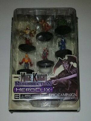 Heroclix Mage Knight Resurrection Epic Campaign 6 Figure Starter Set BNIB