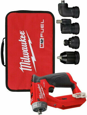 New Milwaukee 2505-20 M12 Fuel 12v Brushless Installation Drill Driver W4 Heads