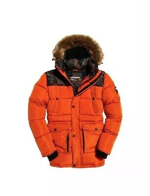 Superdry Jacket Men SD Explorer Parka Bold Orange XL