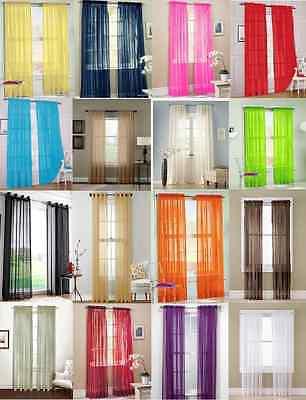 2Pc Sheer Voile Window Panel curtains DRAPE 63