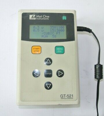 Met One Gt-521 Handheld Particle Counter W Power Supply - Tested