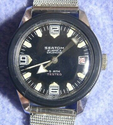 Vintage Seatom 21 jewel (BF866) Divers Style Manual Watch