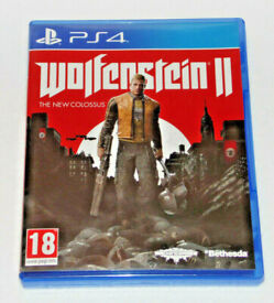SONY PLAYSTATION PS4 GAME WOLFENSTEIN 2 THE NEW COLOSSUS LIBERATE AMERICA ACTION