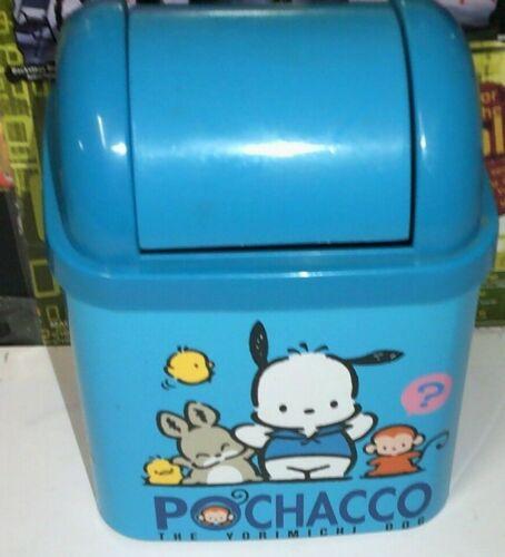Vintage 1995 sanrio Pochacco mini trash can blue made in japan