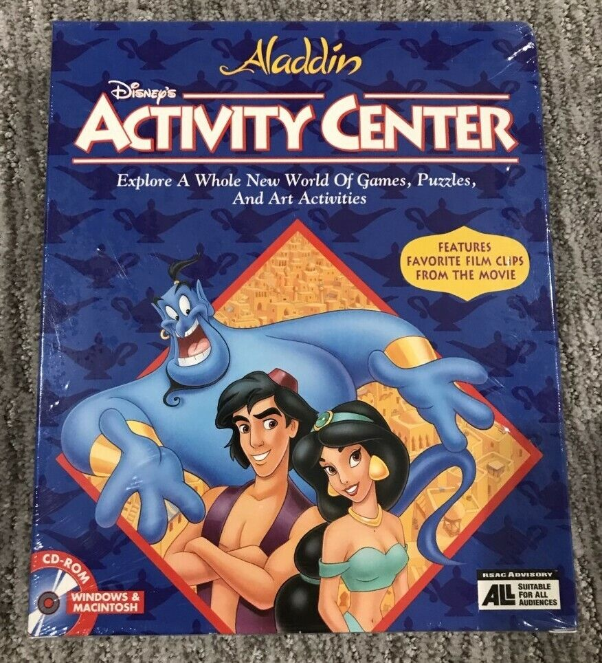 Disney's Aladdin Activity Center For KidsGames  NEW IN B