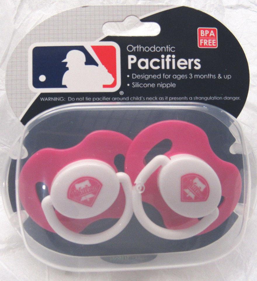 MLB Philadelphia Phillies Pacifier set of Pink Color w/Case