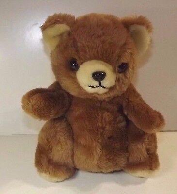 DAEKOR BROWN TEDDY BEAR PLUSH POTBELLY VINTAGE  STUFFED ANIMAL _KOREA 1980'S