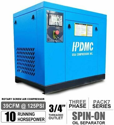 Industrial 230v 60hz 7.5kw 10hp Rotary Screw Air Compressor 3 Phase