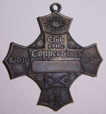 """San Francisco Committee of Vigilance """"Club Of The Copper Cross"""" Medal"""