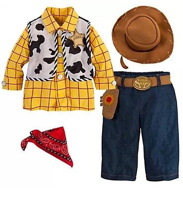 DISNEY STORE TOY STORY WOODY BABY COSTUME 3/6/12/18/ 24 Months