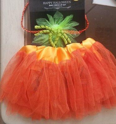 Baby Halloween Pumpkin Costume Infant 0-3 Mo 2pc Set Tutu + Headband Photo Shoot - Baby Halloween Photos
