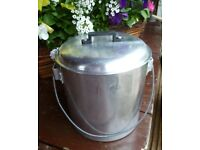 Vintage Milk Can: Aluminium with lid CASTLE